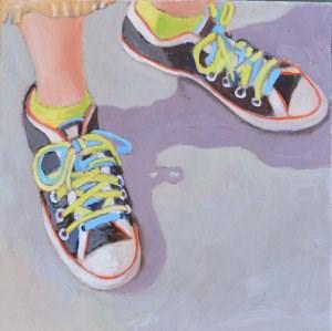 """Happy Shoes"" original fine art by Robert Frankis"