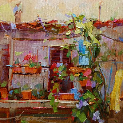 """""""At Home in Italy SOLD"""" original fine art by Dreama Tolle Perry"""