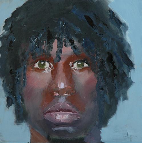 """""""FACE No. 36"""" original fine art by Linda Popple"""