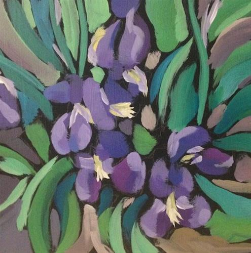 """Monday Irises"" original fine art by Kat Corrigan"