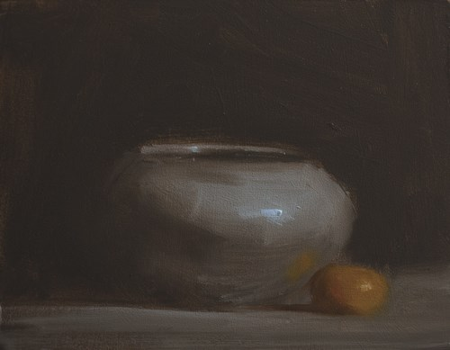 """Vase with Clem"" original fine art by Neil Carroll"