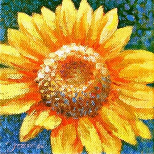 """Sunflower-1"" original fine art by Joanna Bingham"