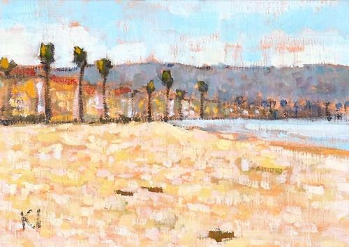 """PB Plein Air, San Diego"" original fine art by Kevin Inman"