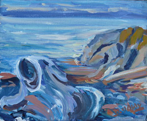 """Beach Scene"" original fine art by Darlene Young"