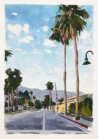 """Linden Avenue, Carpinteria"" original fine art by Sharon Schock"