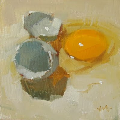 """Blue Egg"" original fine art by Carol Marine"