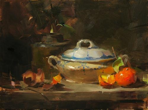 """Old Beauty"" original fine art by Qiang Huang"