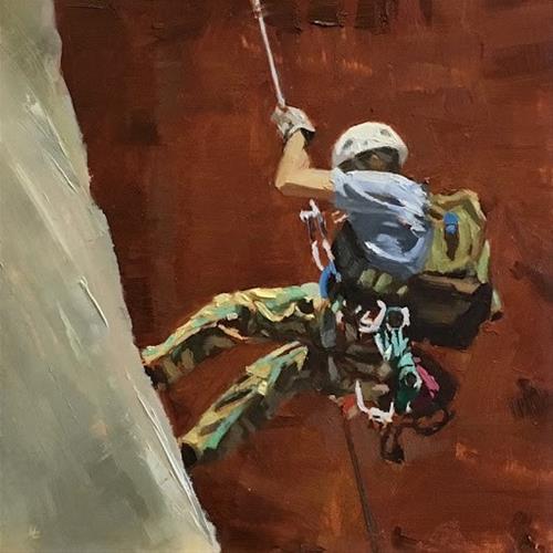"""""""ROCK CLIMBING"""" original fine art by Helen Cooper"""