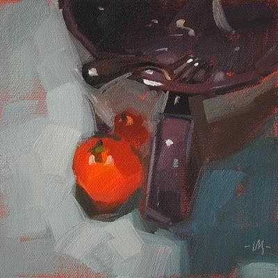"""Oh Romeo Oh Tomato"" original fine art by Carol Marine"