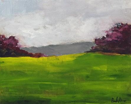 """""""Purple and Green"""" original fine art by Pamela Munger"""