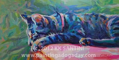 """Sleeping Beauty"" original fine art by Kimberly Santini"