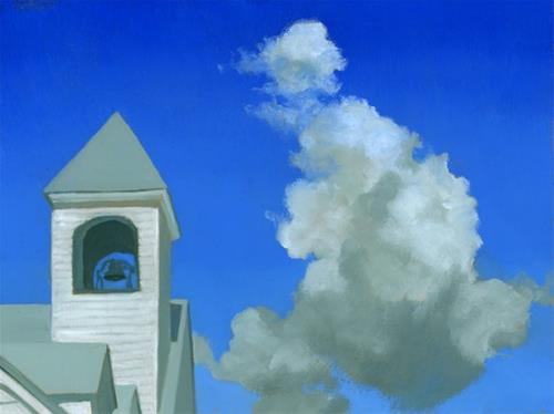 """Church Bell"" original fine art by Nancy Herman"