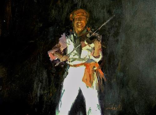 """fiddler"" original fine art by Richard Schiele"
