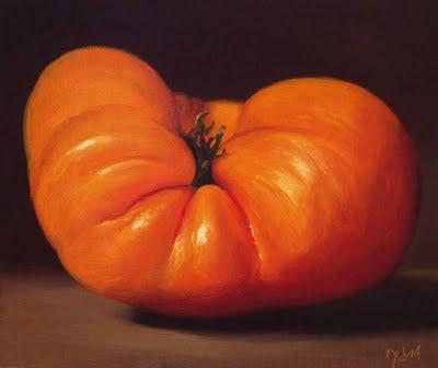 """Yellow Heirloom Tomato"" original fine art by Abbey Ryan"