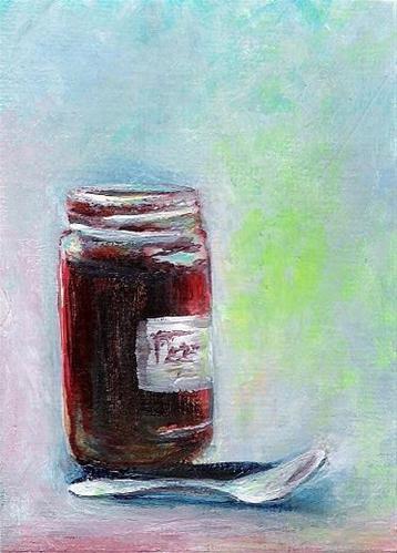"""3072 - JAM TODAY - ACEO Series"" original fine art by Sea Dean"