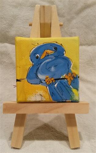 """""""Itty Bitty Bluebird"""" original fine art by Terri Einer"""