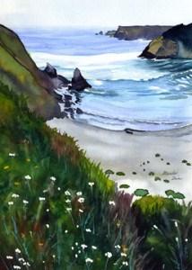 """Spring at Jug Handle Beach"" original fine art by Mariko Irie"