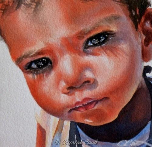 """Savvy"" original fine art by Crystal Cook"