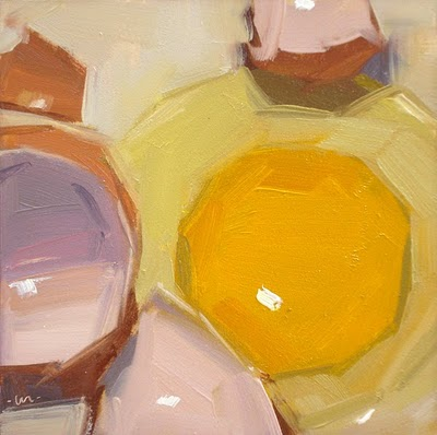 """Mini Egg"" original fine art by Carol Marine"