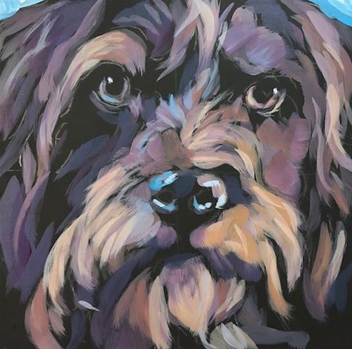 """July 19, Gus"" original fine art by Kat Corrigan"