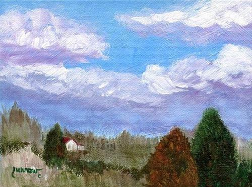 """""""ORIGINAL PAINTING 'THE VIEW FROM GOOSE CREEK'"""" original fine art by Sue Furrow"""