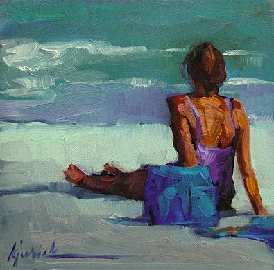 """""""Summer VI"""" original fine art by Karin Jurick"""