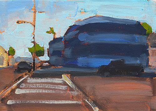 """Sherman Heights Termite Tent"" original fine art by Kevin Inman"