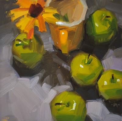 """Adoring the Sun"" original fine art by Carol Marine"