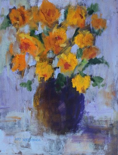 """""""Flowers in My Dreams, Floral Paintings by Arizona Artist Amy Whitehouse"""" original fine art by Amy Whitehouse"""