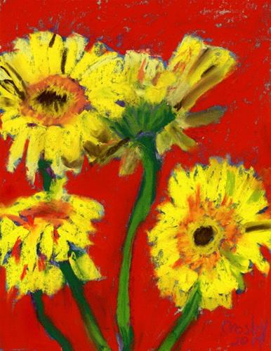 """""""Daisy Almost Undone"""" original fine art by Donna Crosby"""