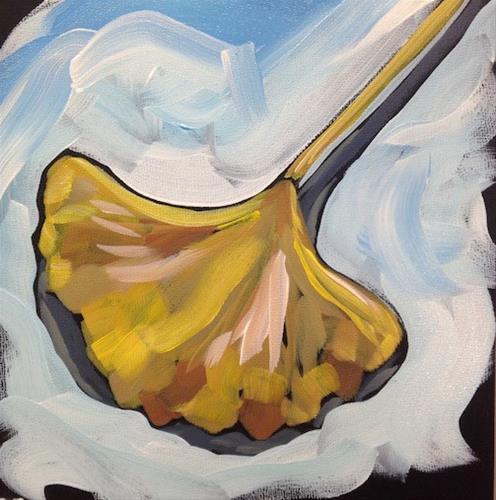 """""""Gingko #2"""" original fine art by Kat Corrigan"""