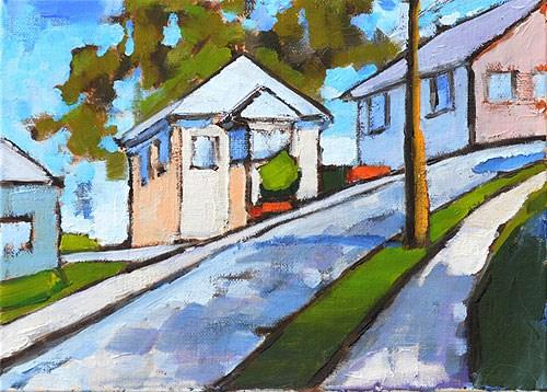 """Mission Hills Street, San Diego"" original fine art by Kevin Inman"