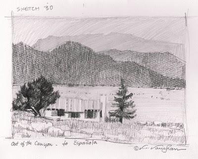 """Colorado Sketchbook__#30"" original fine art by V.... Vaughan"