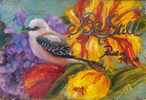 """""""Be Still"""" original fine art by Susie Monzingo"""