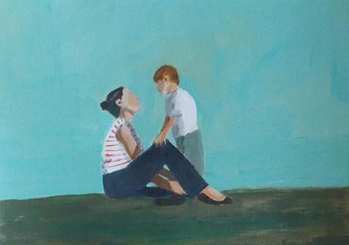 """Mom"" original fine art by Pamela Munger"