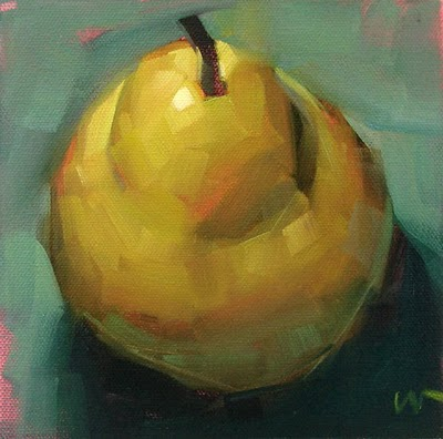 """Just a Pear 3 --- SOLD"" original fine art by Carol Marine"