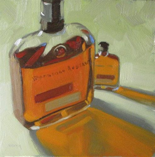 """""""Woodford Reserve large and small 6x6 oil"""" original fine art by Claudia Hammer"""