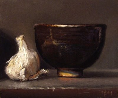 """Garlic and Miso Bowl"" original fine art by Abbey Ryan"