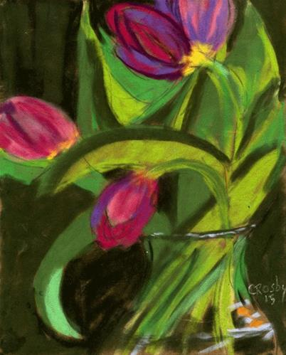 """""""The Music of Flowers"""" original fine art by Donna Crosby"""