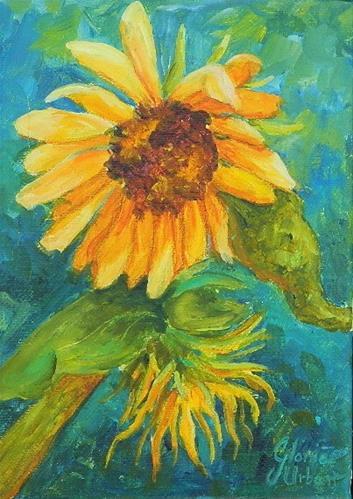 """Sunflower #6"" original fine art by Gloria Urban"