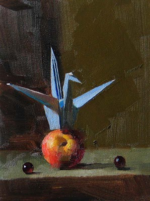 """""""Origami --- Sold"""" original fine art by Qiang Huang"""