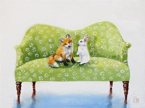 """meadow"" original fine art by Kimberly Applegate"