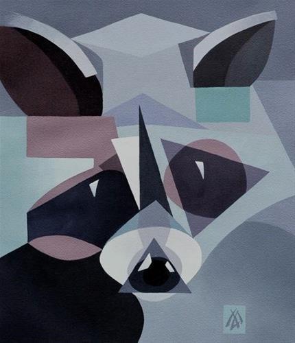 """""""Raccoon Spirit"""" original fine art by Mark Allison"""