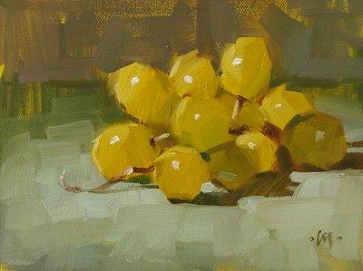 """Golden Bunch & Seeking Shade"" original fine art by Carol Marine"