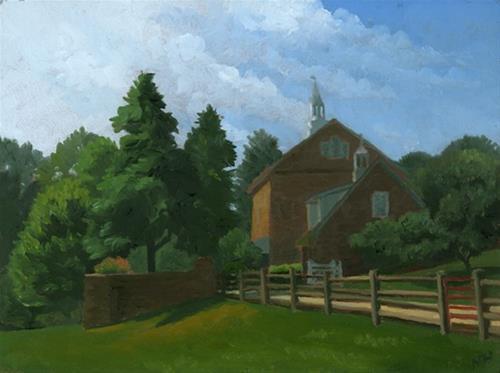 """Old Barn"" original fine art by Nancy Herman"