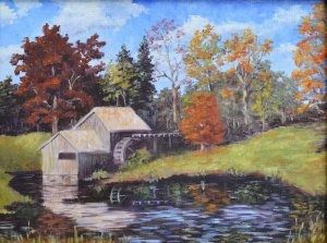 """The Old Mill"" original fine art by Robert Frankis"