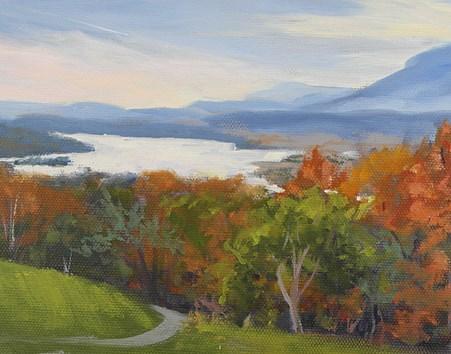 """Autumn Above the Hudson"" original fine art by Jamie Williams Grossman"