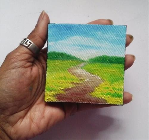"""Pathway through Grass"" original fine art by Camille Morgan"