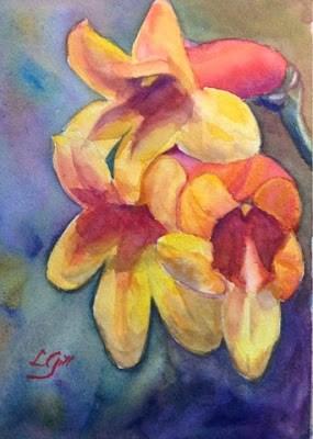 """Day 29 - Crossvine"" original fine art by Lyn Gill"