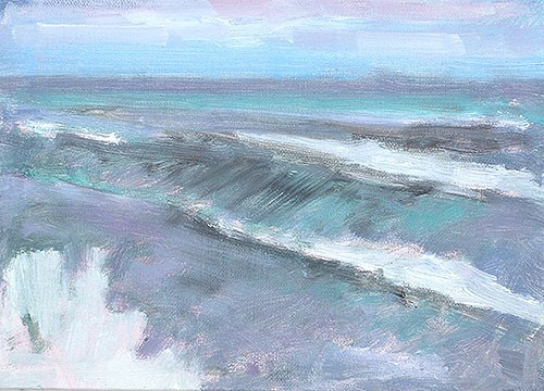 """Blustery Day, OB"" original fine art by Kevin Inman"